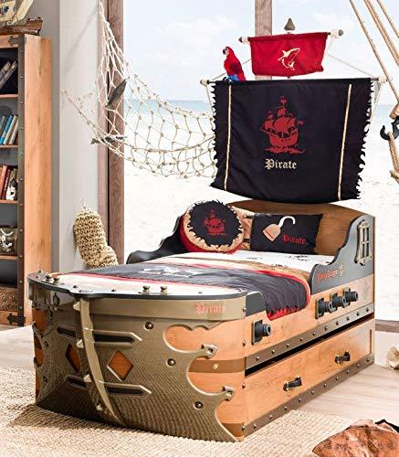 Froschkönig24 Cilek Pirate Kinderbett ausziehbar, Matratze:ohne Bild 1
