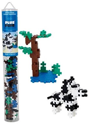 Plus-Plus 300.4089 Zebra Tube Mix (100 Stück), Mehrfarbig Bild 1