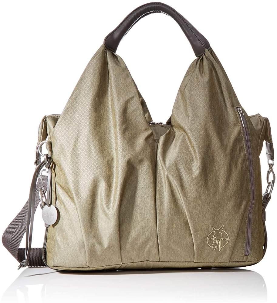 LÄSSIG Baby Wickeltasche nachhaltig inkl. Wickelzubehör nachhaltig produziert/Green Label Neckline Bag, gold mélange Bild 1