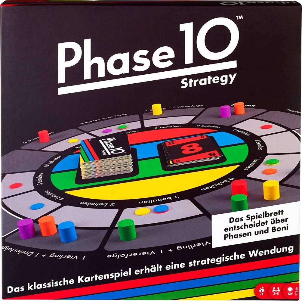 Mattel Games FTB29 Phase 10 Strategy Brettspiel, geeignet für 2 - 6 Spieler, Spieldauer ca. 60 - 90 Minuten, ab 7 Jahren Bild 1
