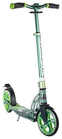 Six Degrees Aluminium Scooter SG - Tretroller, große Rollen 205 mm, ABEC 7 Kugellager, für Kinder & Erwachsene, GS-geprüft, höhenverstellbar, grün Bild 1