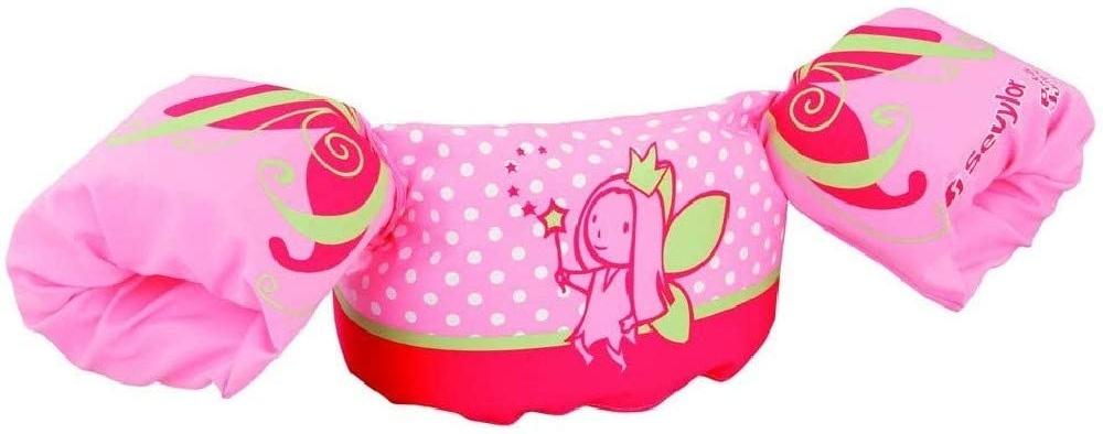 Sevylor Schwimmflügel Puddle Jumper, für Kinder und Kleinkinder von 2-6 Jahre, 15-30kg, Schwimmscheiben, pink, Delfin Bild 1