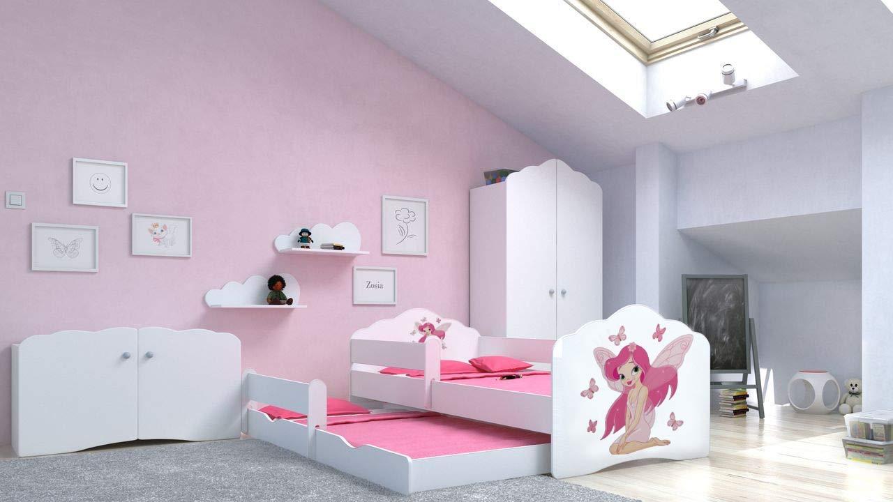 Angelbeds 'Fala' Kinderbett 80x160 cm, Motiv 6, inkl. Flex-Lattenrost, Schaummatratze und Schubbett Bild 1