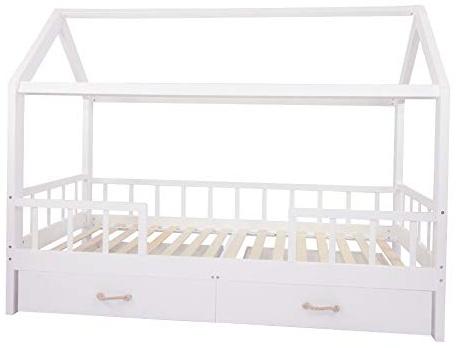 Puckdaddy 'Carlotta' Hausbett mit zwei Schubladen, 90x200cm, weiß Bild 1
