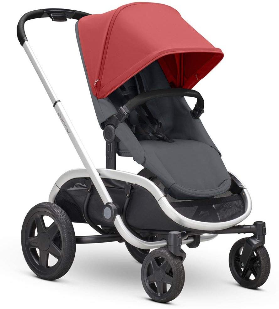 Quinny Hubb Mono XXL Shopping-Kinderwagen, großer Einkaufskorb, einfach klappbarer Kinderwagen, nutzbar ab ca. 6 Monate bis ca. 3,5 Jahre, Red on Graphite Bild 1