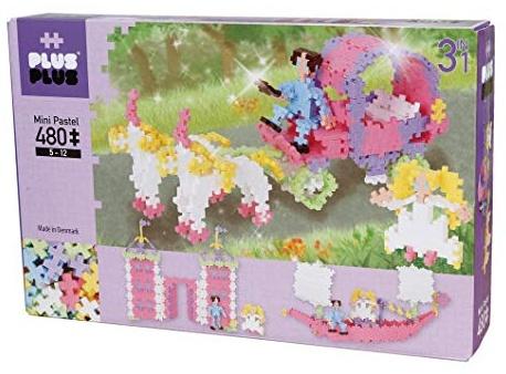 Plus-Plus 9603771 Geniales Konstruktionsspielzeug, Pastel Prinzessinnentraum, Mini Basic, 3-in-1 Bausteine-Set, 480 Teile Bild 1