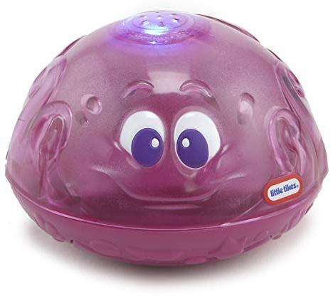 little tikes 173875GR Sparkle Bay Funkelfontäne Oktopus, Wasserspielzeug mit Leucht- und Spritzfunktion, lila Bild 1