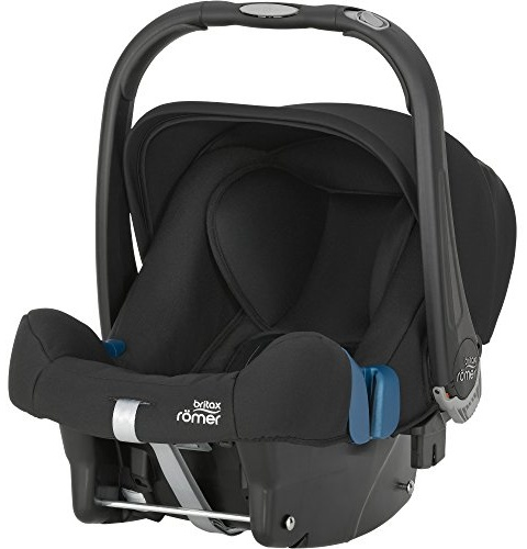 Britax Römer Babyschale Geburt - 13 Monate I 0 - 13 kg I BABY-SAFE PLUS SHR II Autositz Gruppe 0+ I Cosmos Black Bild 1