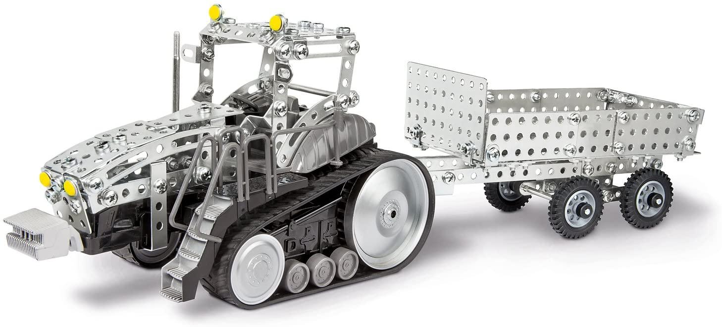 Eitech 00023 - Metallbaukasten 'RC Traktor mit Anhänger', 2.4 GHz Bild 1