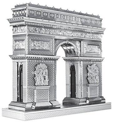 Fascinations Metal Earth ICX005 - 502886, Arc de Triomphe, Konstruktionsspielzeug, 2 Metallplatinen, ab 14 Jahren Bild 1