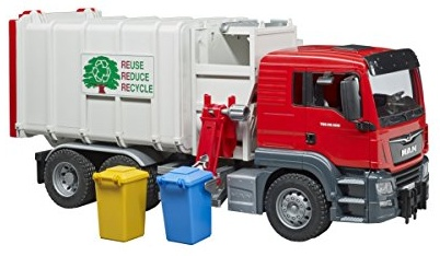 Bruder 3761 Man TGS Seitenlader Müll - LKW Bild 1