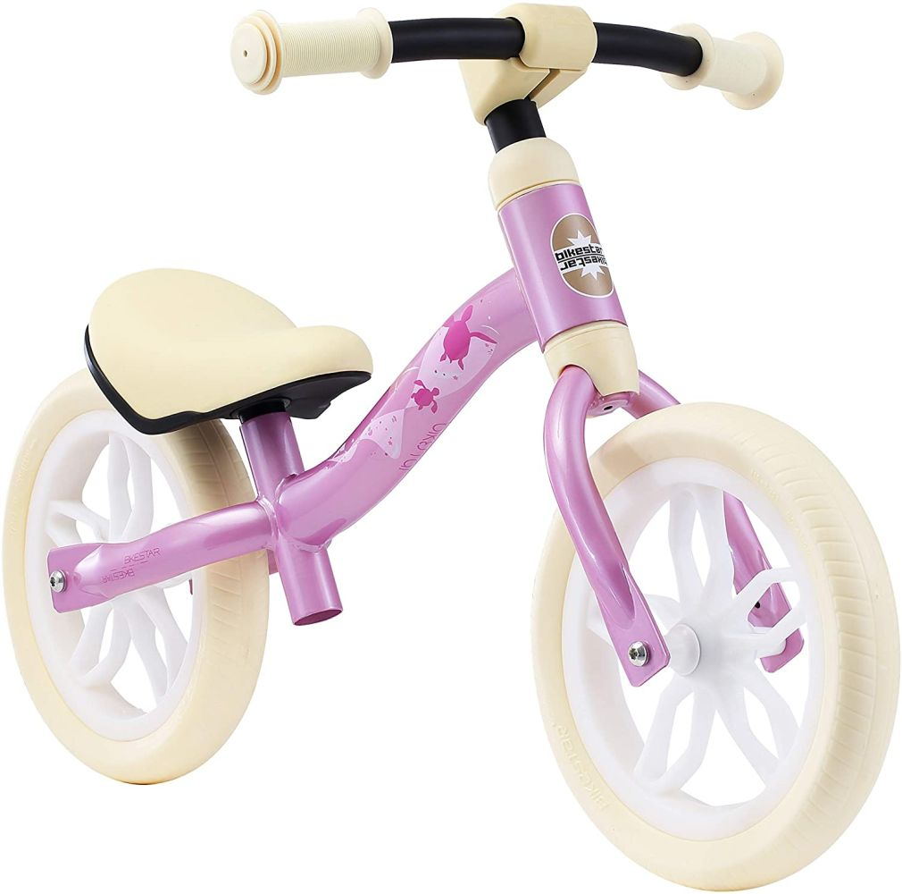 BIKESTAR Federleichtes (3 KG!) Kinderlaufrad Lauflernrad Kinderrad für Jungen und Mädchen ab 2 - 3 Jahre | Mitwachsendes 10 Zoll Kinder Laufrad Lightrunner | Pink | Risikofrei Testen Bild 1