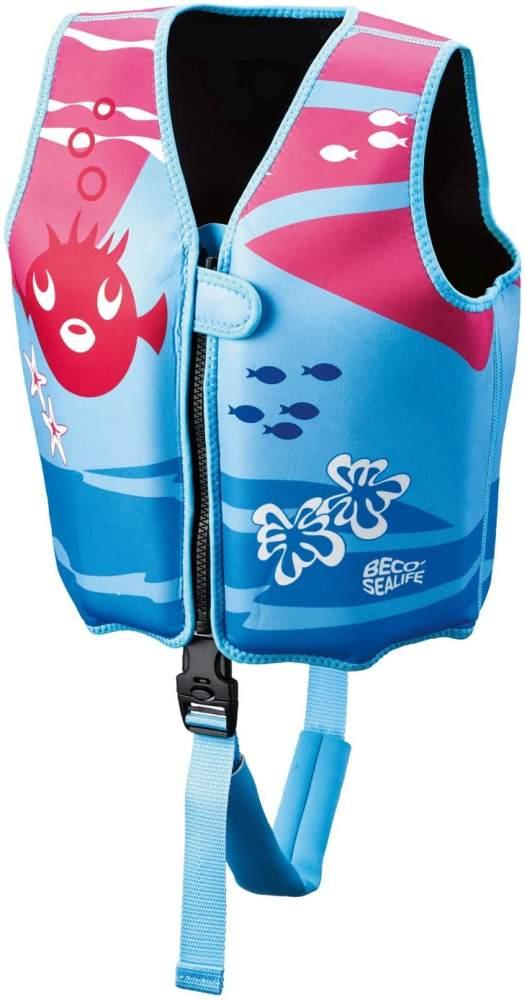 Beco 'Sealife' Schwimmweste blau/pink- Größe M für Kinder von 3-6 Jahren und 18-30 kg Bild 1