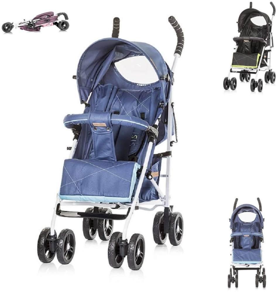 Chipolino Kinderwagen Buggy Sisi Kollektion 2018, Buggy, Rückenlehne einstellbar blau Bild 1
