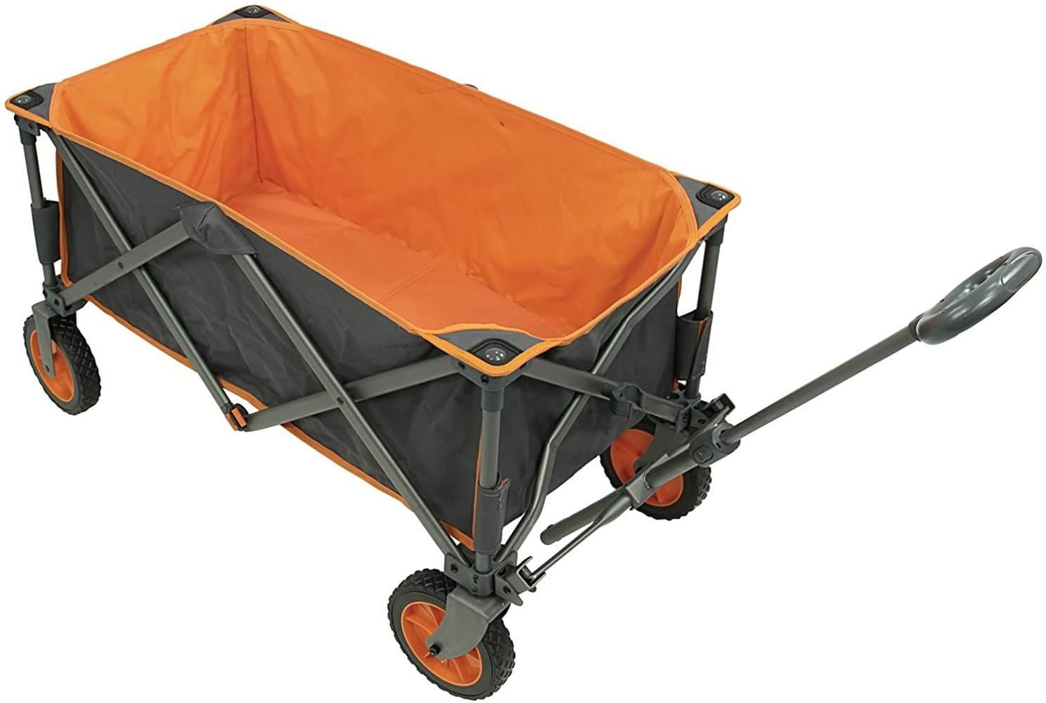 Portal Alf Trolley XL Bollerwagen bis 100 kg Strandwagen Handwagen Kinderwagen + Boden & Tasche Bild 1