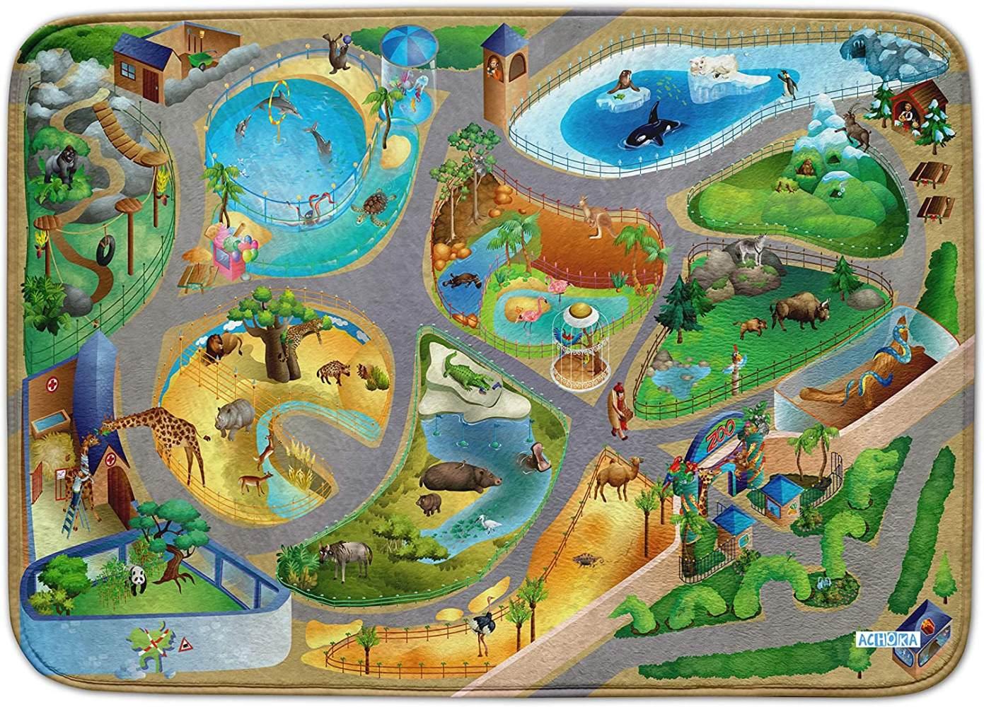 verkehrsteppich Zoo uns Connect 100 x 150 cm Bild 1
