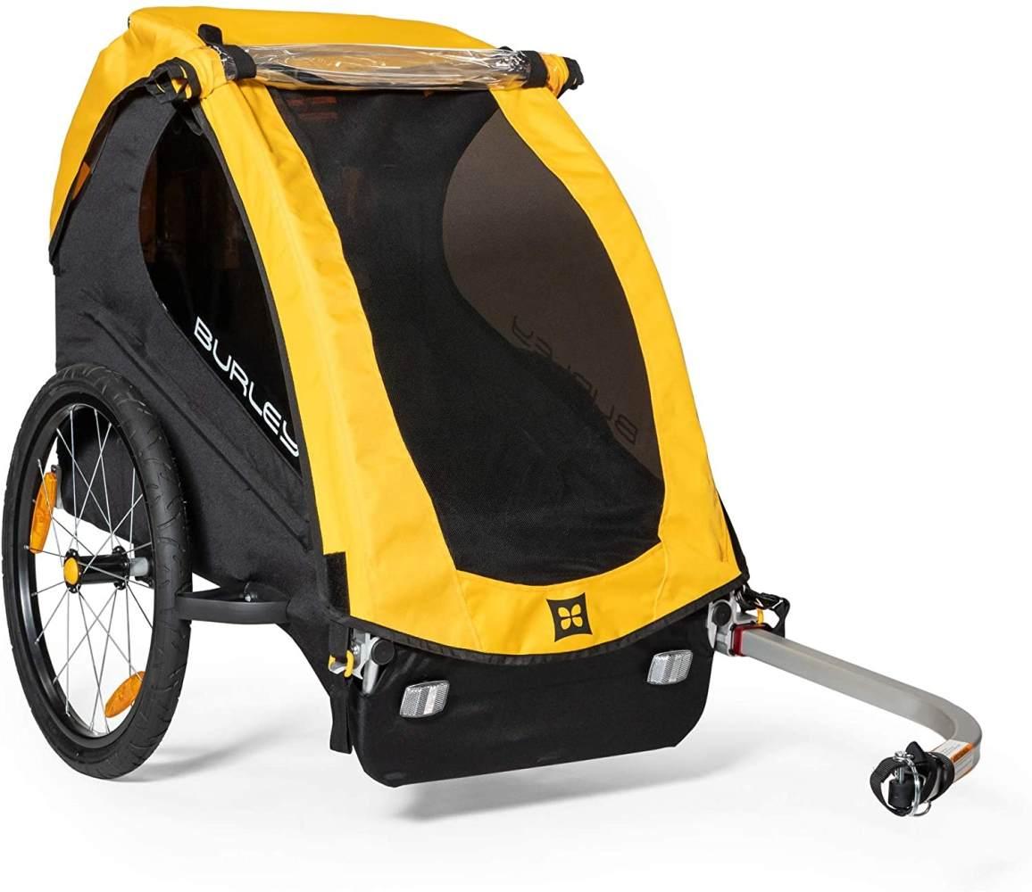 Fahrrad-Kinder-Anhänger Burley Bee Yellow, Single Bild 1
