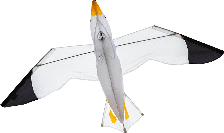 HQ 106510 - Seagull 3D Kinderdrachen Einleiner, ab 8 Jahren, 75x140cm, inkl. 17kp Polyesterschnur 40m auf Spule, 2-4 Beaufort Bild 1