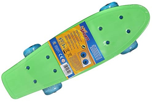 New Sport Mini Skateboard mit LED, 41,5x12cm Bild 1