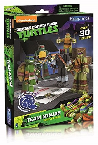 Jazwares 12700 - Blueprints - Teenage Mutant Ninja Turtles Team Pack, 30 Teile Bild 1