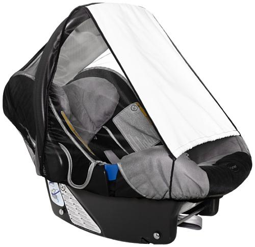 sunnybaby 11186 - Universal Sonnenschutz für Babyschale, Sonnendach mit Insektenschutz | UV Schutz UPF 50+ | vielseitig verstellbar | mit Eingriff - Farbe: NATUR | Qualität: MADE in GERMANY Bild 1