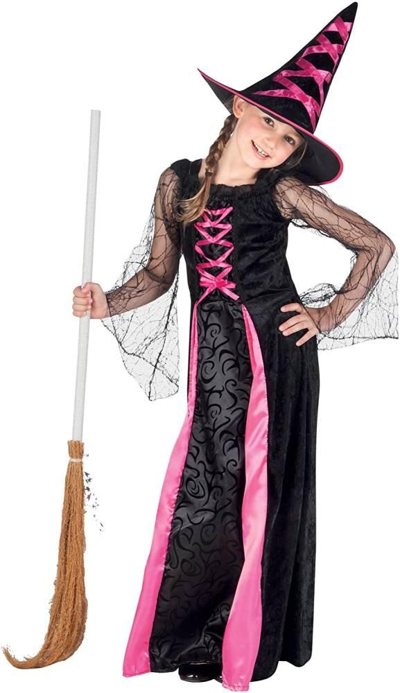 Boland - Kinderkostüm 78022 - Webbed Witch, Schwarz Bild 1