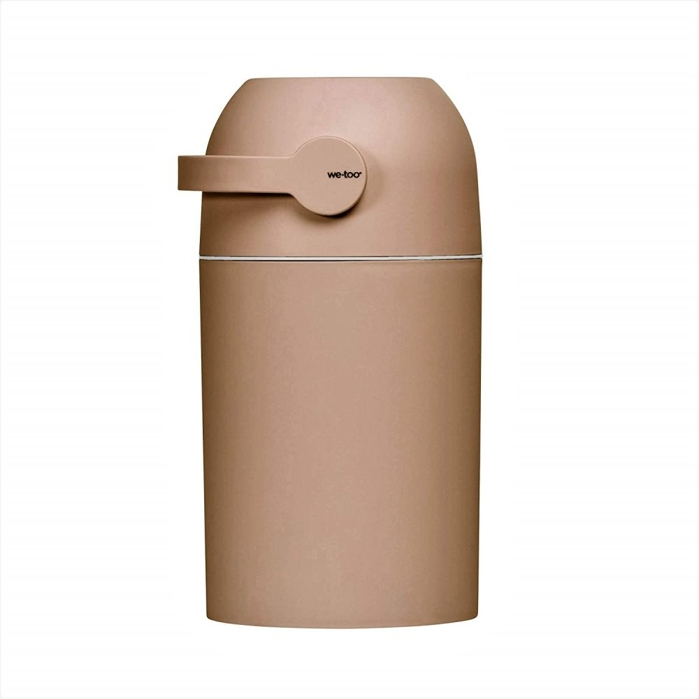Set Kidsmill Windeleimer we-too Nordvik mit Stoffwindel von Kinderhaus Blaubär   Diaper Keeper mit Geruchsstop-System   für bis zu 25 Windeln   keine extra Nachfüllkassetten nötig, Design:rust Bild 1