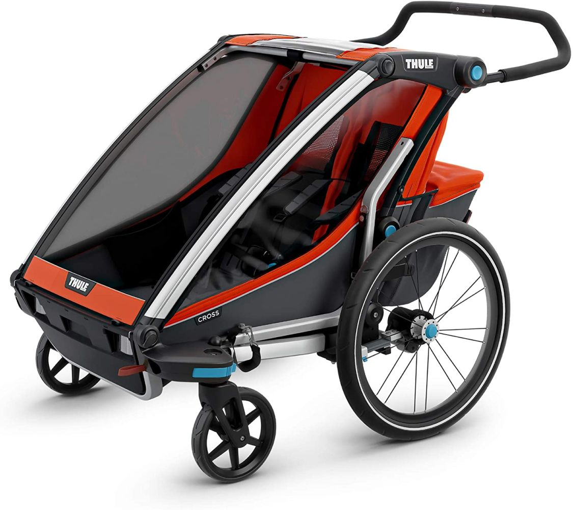 "Thule Baby Chariot Cross Multisport-Anhänger/-Buggy, Farbe: ""Roarange/Dark Shadow"", 2 Kinder Bild 1"
