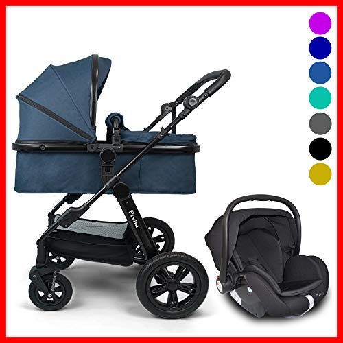 Pixini Travel-Set Arizona Luxe mit Babyschale (petrolblau melange) Bild 1