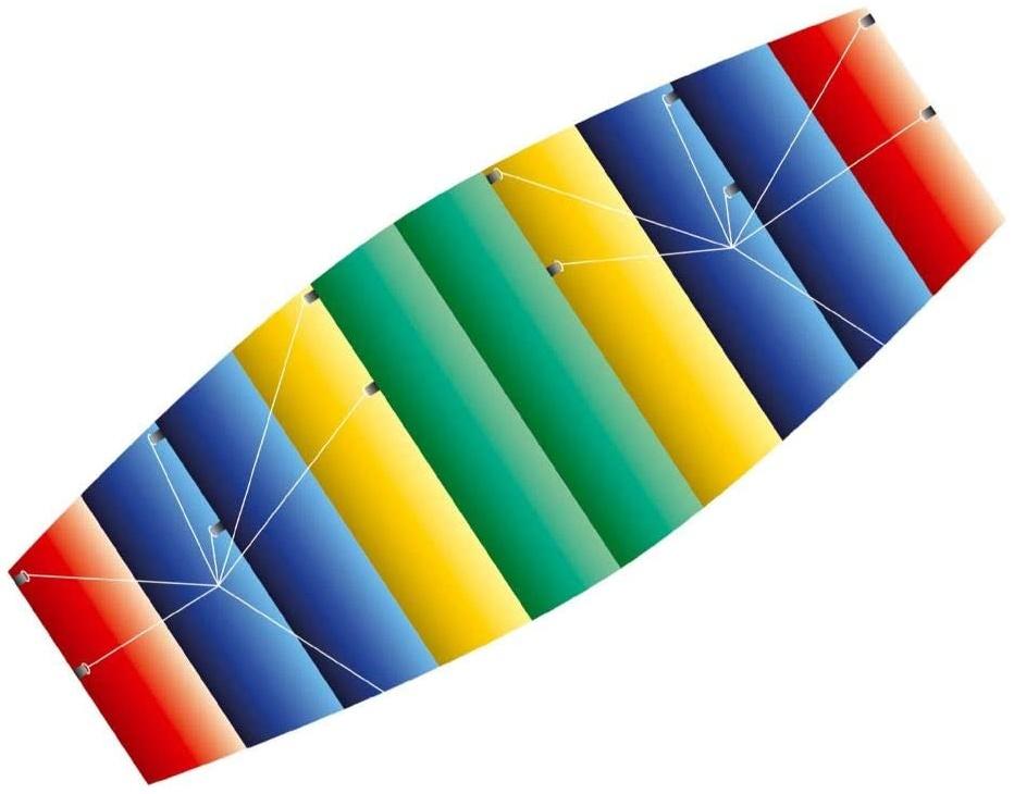 Paul Günther 1095 - Lenkbarer Parafoil-Drachen Raver, 1 m Spannweite, kleinst zusammenlegbar, mit Lenkspulen und Schnur, ca. 100 x 45 cm groß Bild 1