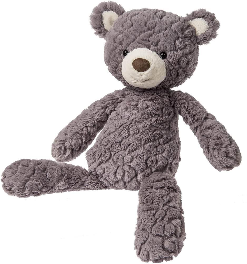 Mary Meyer Putty Teddy-Bär, weiches Plüschspielzeug (mittelgroß, Grau) Bild 1