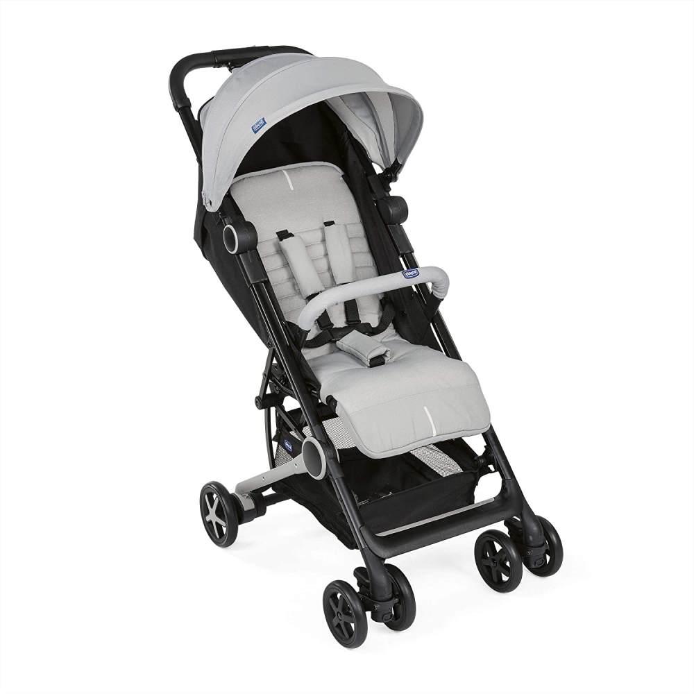 Chicco MIINIMO3 Buggy, kompakter Reisebuggy, ultraleicht, ab Geburt, mit Transportrucksack, grau Bild 1