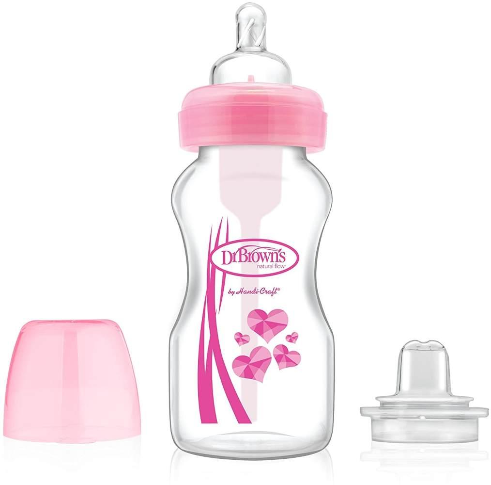 Dr Brown 's Übergang Flasche, 270ml, pink Bild 1