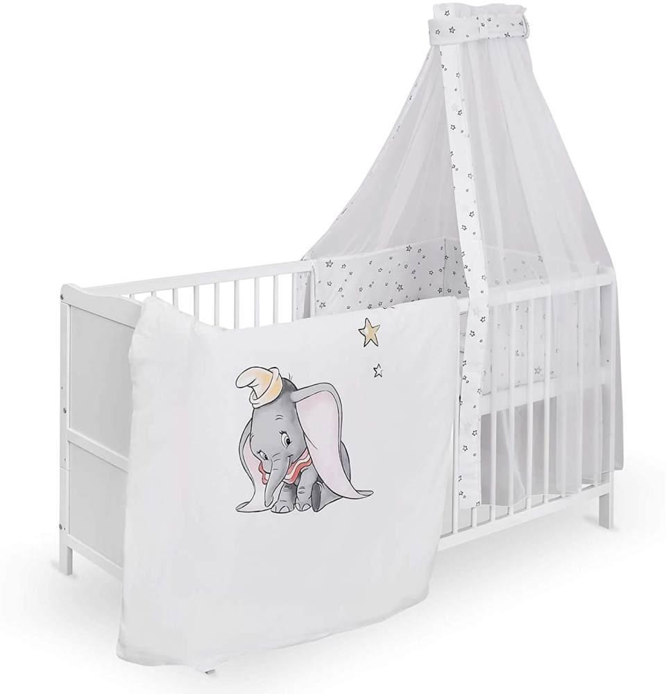 Urra Komplett-Kinderbett Luca 70x140 cm Kiefer weiß Disney Dumbo Bild 1