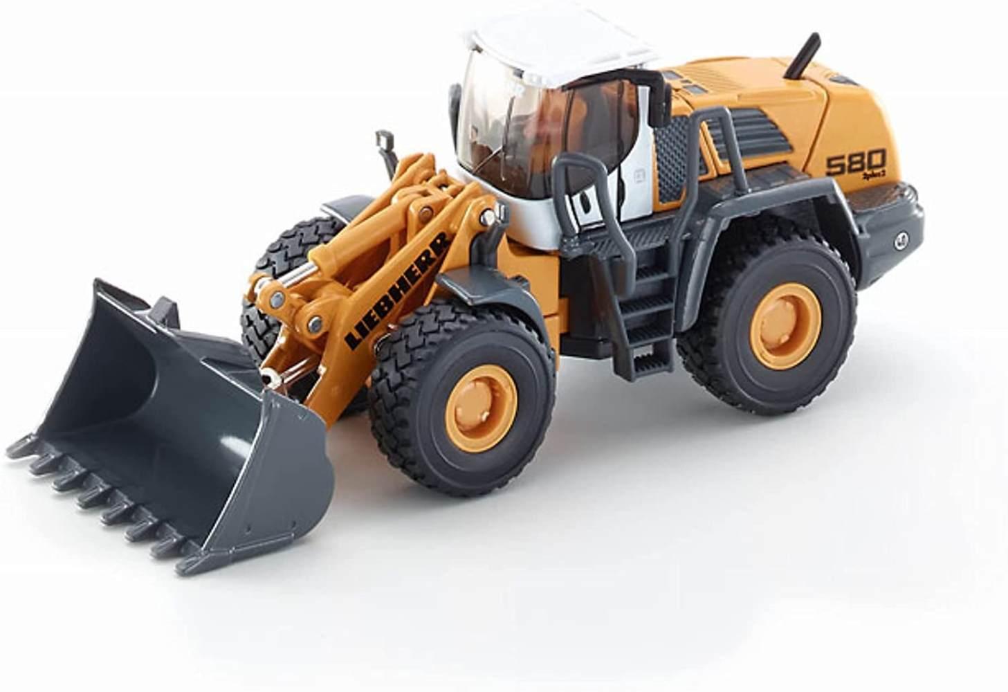 Siku 3533, Liebherr L580 2plus2 Radlader, 1:50, Metall/Kunststoff, Bewegliche Funktionen, Gelb Bild 1