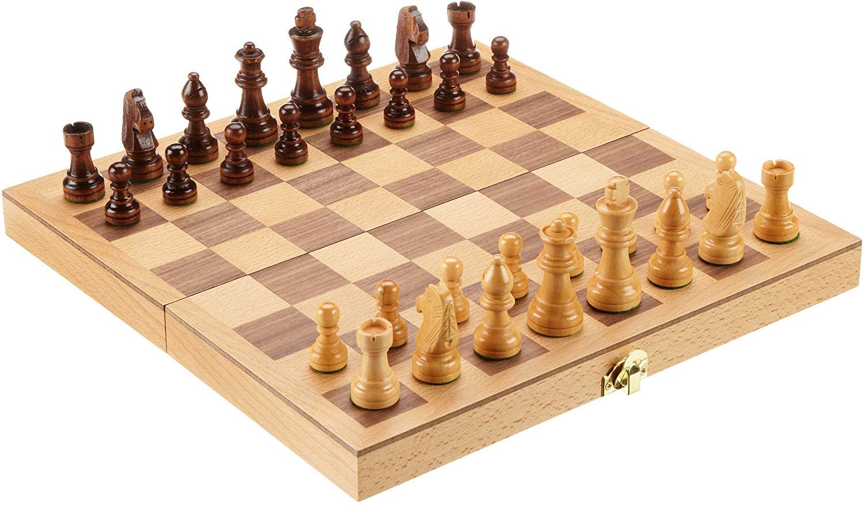 Philos 2708 - Schach, Schachspiel, Schachkassette, Feld 33 mm, Königshöhe 64 mm, Holz Bild 1