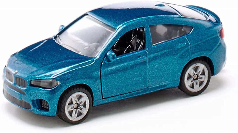 SIKU 1409, BMW X6 M, Metall/Kunststoff, Blau, Spielzeugauto für Kinder, Öffenbare Türen Bild 1