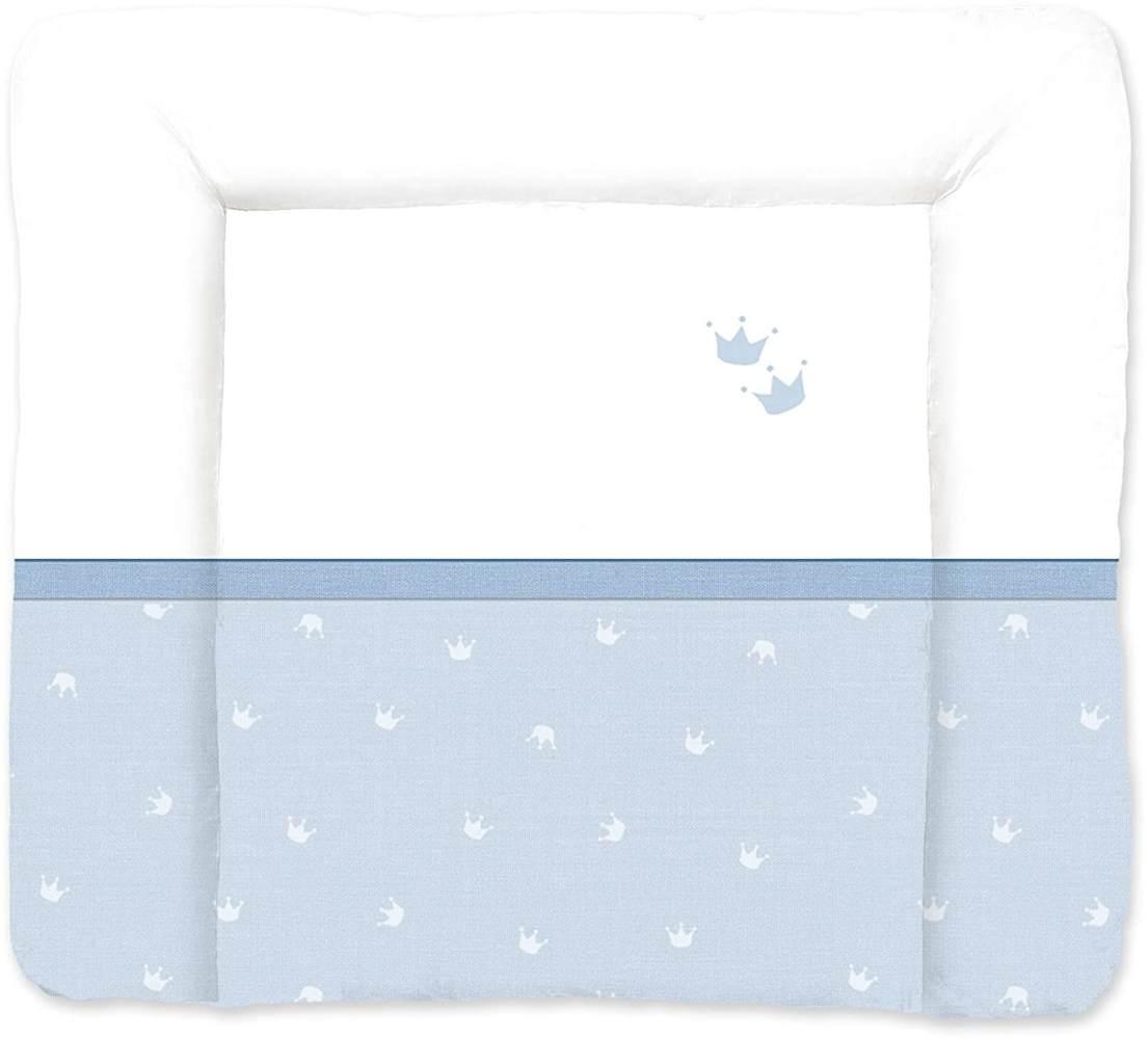 Träumeland Wickelauflage blau/weiß, Krone Bild 1