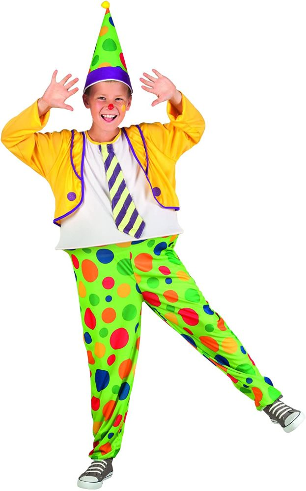 Boland 82226 - Kinderkostüm Clown Jimbo, grün 140 Bild 1