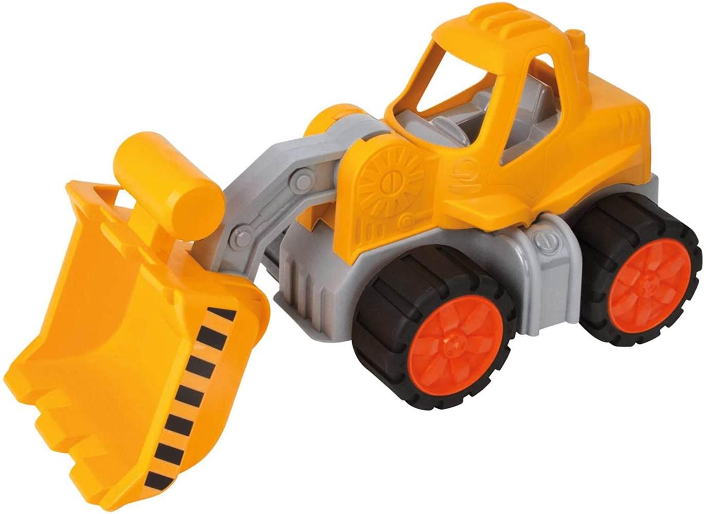 BIG-Power-Worker Radlader, Spielzeug Auto ideal für Unterwegs, Reifen aus Softmaterial, beweglicher Ladearm, sonnengelb für Kinder ab 2 Jahren Bild 1