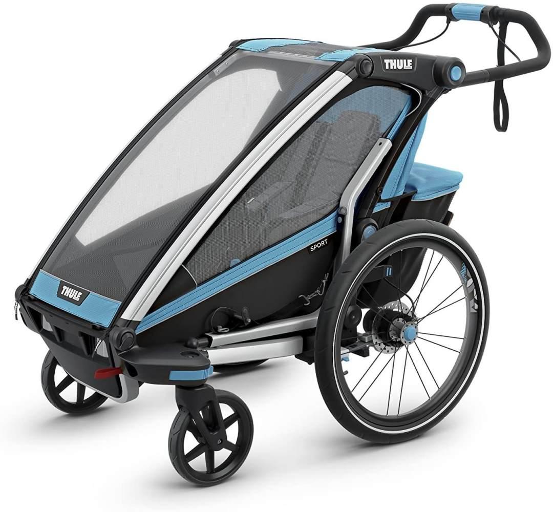 Thule Unisex– Erwachsene Chariot Sport2, Blau Fahrradanhänger, Blu, Einheitsgröße Bild 1