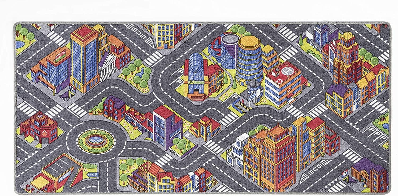 misento 'Big City' Kinderteppich 95x200 cm Bild 1