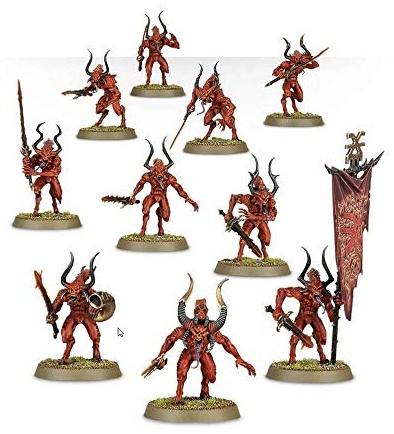 GAMES WORKSHOP 99117011221 'Daemons of Khorne Bloodletters Miniatur Bild 1