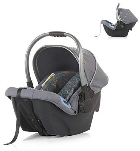 Chipolino Kindersitz Up&Down Gruppe 0+(0-13 kg) verstellbarer Griff Sonnendach, Farbe:dunkelgrau Bild 1