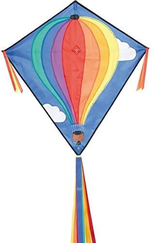 HQ 100051 - Eddy Hot Air Balloon Kinderdrachen Einleiner, Ab 5 Jahren, 68 x 68 cm und 2 m Drachenschwanz Ripstop-Polyester 2-5 Beaufort Bild 1