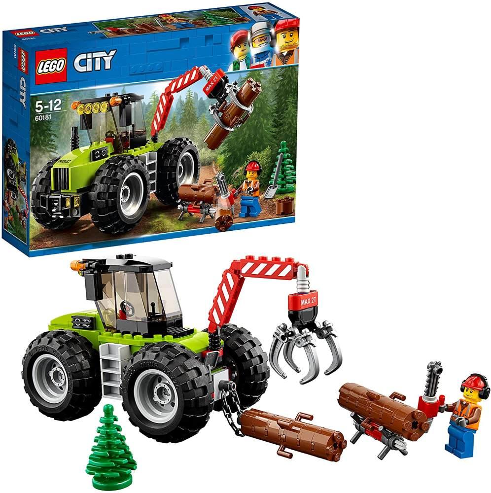 LEGO City 60181 - Starke Fahrzeuge Forsttraktor, Cooles Kinderspielzeug Bild 1