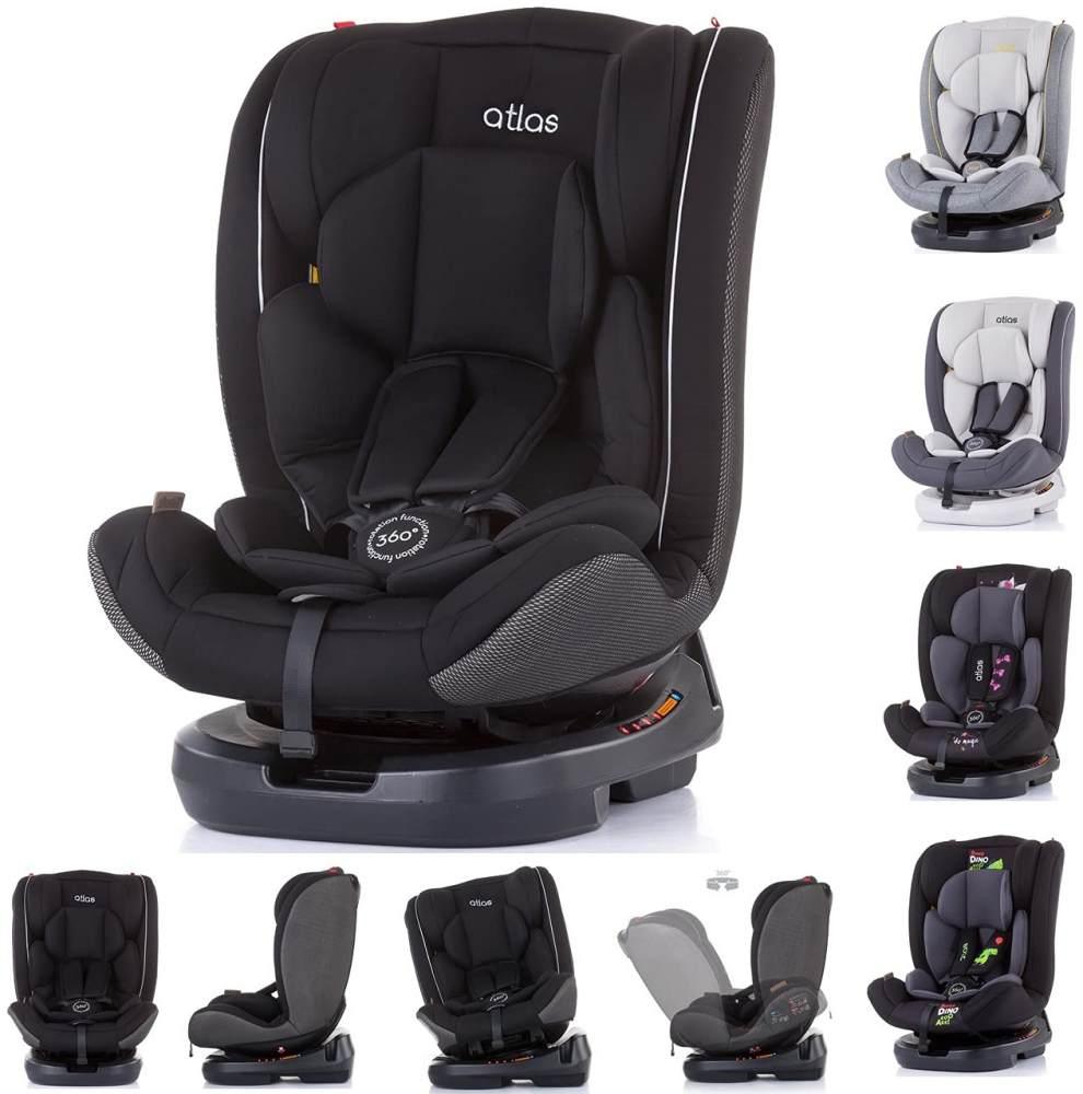 Chipolino Kindersitz Atlas Gruppe 0+/1/2/3 (0 - 36 kg), 3-Punkt-Sicherheitsgurt schwarz Bild 1
