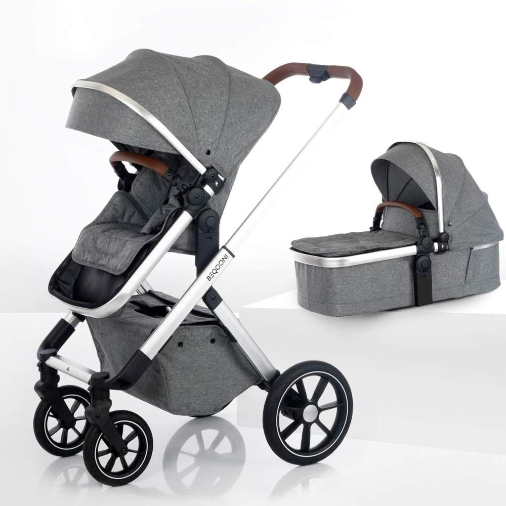 beqooni® Kombikinderwagen 2 in 1 Sparkling Grey Bild 1