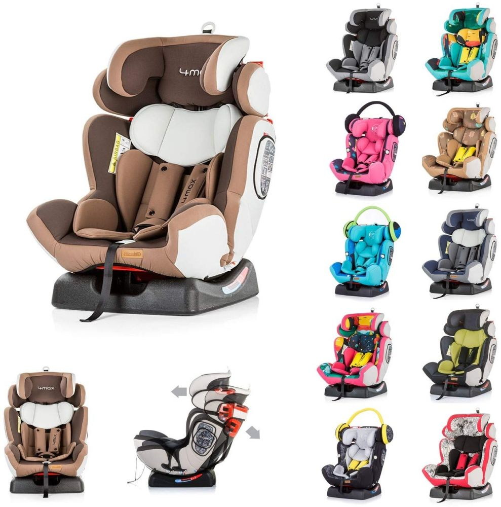 Chipolino Kindersitz 4 Max Gruppe 0+/1/2/3 (0-36 kg), Seitenaufprallschutz, Farbe:dunkelbraun Bild 1
