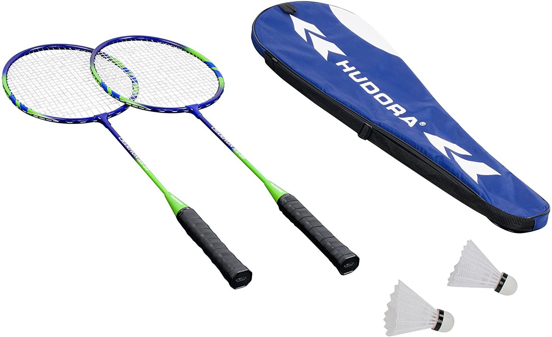 Hudora 'Badmintonset Winner', inkl. 2x Schläger, 2x Federbälle und Tragetasche mit Schultergurt, gutes Handling der Schläger durch rutschhemmendes Griffband Bild 1